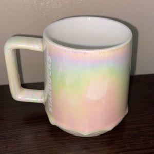 Starbucks iridescent coffee cup mug NEW Rainbow